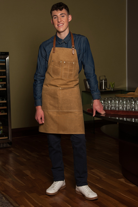 denim shirt & canvas apron