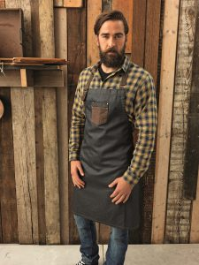 Check Shirt, Denim & Leather Apron